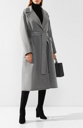 Женские замшевые сапоги jeanne LORO PIANA темно-серого цвета, арт. FAI2296 | Фото 2