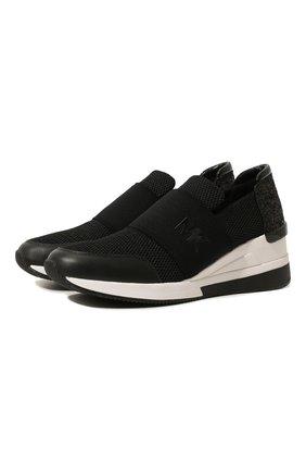 Женские комбинированные кроссовки felix MICHAEL MICHAEL KORS черного цвета, арт. 43S7FXFS1D | Фото 1
