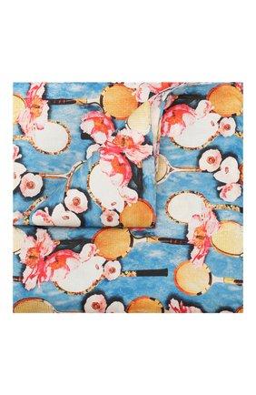 Мужской шелковый платок ETON голубого цвета, арт. A000 31701 | Фото 1