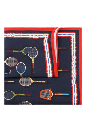 Мужской платок из смеси хлопка и шелка ETON темно-синего цвета, арт. A000 31710 | Фото 1