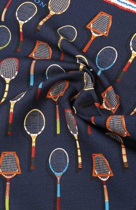 Мужской платок из смеси хлопка и шелка ETON темно-синего цвета, арт. A000 31710 | Фото 2