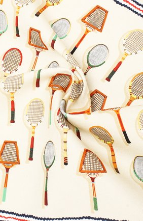 Мужской платок из смеси хлопка и шелка ETON кремвого цвета, арт. A000 31710 | Фото 2