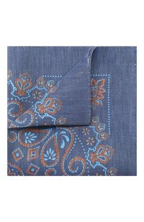 Мужской платок из смеси льна и шелка ETON темно-синего цвета, арт. A000 31714 | Фото 1