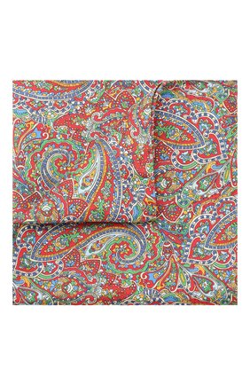 Мужской шелковый платок ETON красного цвета, арт. A000 31760 | Фото 1