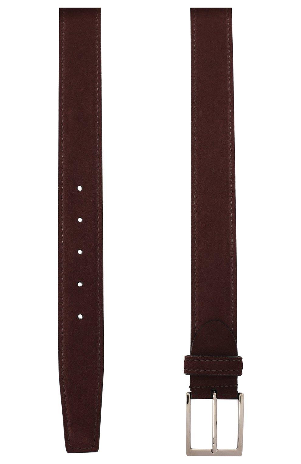 Мужской замшевый ремень BARRETT бордового цвета, арт. 92B565.6/CARDIF | Фото 2