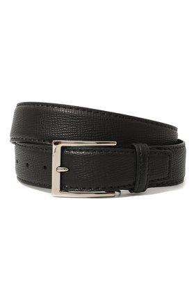 Мужской кожаный ремень BARRETT черного цвета, арт. 92B564.1/RAM0N | Фото 1