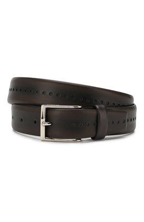 Мужской кожаный ремень BARRETT темно-коричневого цвета, арт. 71B526.2/C0RSAR0 | Фото 1
