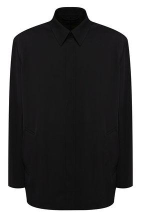 Мужской пиджак из вискозы BALENCIAGA черного цвета, арт. 584027/TF003 | Фото 1