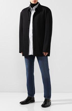 Мужской пиджак из вискозы BALENCIAGA черного цвета, арт. 584027/TF003 | Фото 2