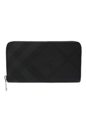 Мужской портмоне BURBERRY темно-серого цвета, арт. 8014480 | Фото 1