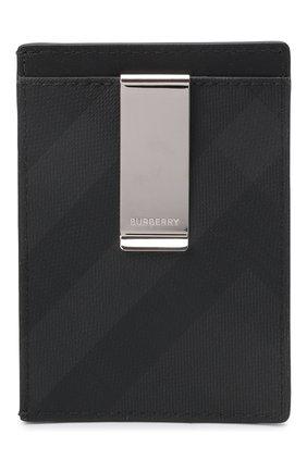 Мужской футляр для кредитных карт BURBERRY темно-серого цвета, арт. 8014489 | Фото 2