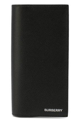 Мужской кожаное портмоне BURBERRY черного цвета, арт. 8014642 | Фото 1