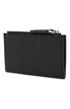 Мужской кожаный футляр для кредитных карт BURBERRY черного цвета, арт. 8014672 | Фото 2