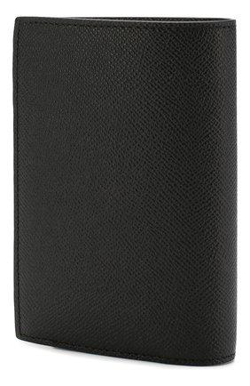 Мужская кожаная обложка для паспорта BURBERRY черного цвета, арт. 8014679 | Фото 2