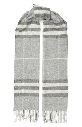 Мужской кашемировый шарф BURBERRY серого цвета, арт. 8015532 | Фото 1