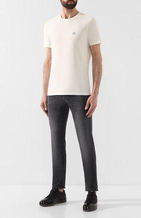 Мужская хлопковая футболка C.P. COMPANY белого цвета, арт. 07CMTS100A-005100W | Фото 2