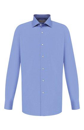 Мужская хлопковая сорочка CANALI темно-синего цвета, арт. 758/GA00327/S | Фото 1