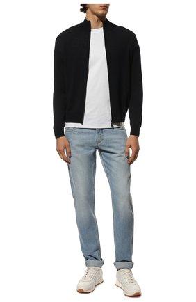Мужская шерстяной кардиган CANALI темно-синего цвета, арт. C0022/MK00077 | Фото 2