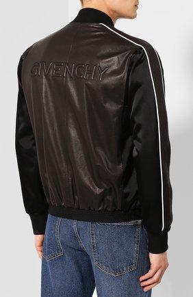 Кожаный бомбер Givenchy черная   Фото №4
