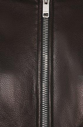 Кожаный бомбер Givenchy черная   Фото №5