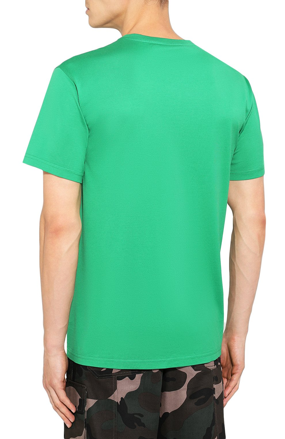 Хлопковая футболка Givenchy зеленая   Фото №4