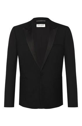 Мужской шерстяной пиджак SAINT LAURENT черного цвета, арт. 564671/Y029V   Фото 1