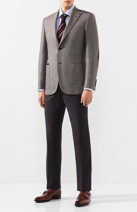Мужской пиджак из смеси шерсти и шелка BRIONI серого цвета, арт. RGK20M/08A5V/CARTESI0 | Фото 2