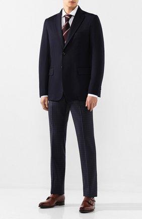 Мужской шерстяной пиджак BRIONI темно-синего цвета, арт. UJBD0L/08631 | Фото 2