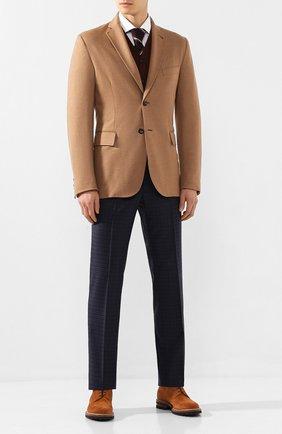 Мужской шерстяной пиджак BRIONI бежевого цвета, арт. UJBD0L/08631 | Фото 2