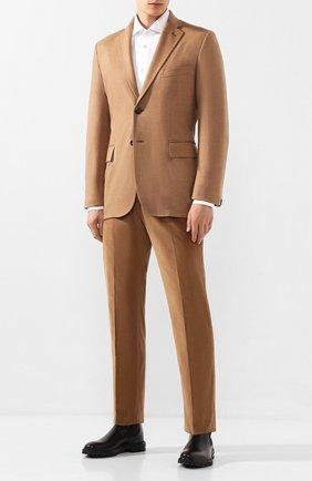 Мужские хлопковые брюки BRIONI бежевого цвета, арт. RPL22M/0Z002/M0ENA | Фото 2