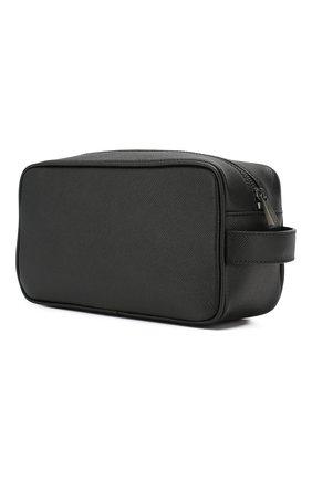 Мужской кожаный несессер SERAPIAN черного цвета, арт. SEV0LMML5464M24A | Фото 2