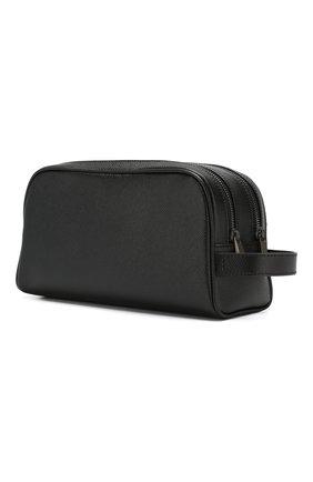 Мужской кожаный несессер SERAPIAN черного цвета, арт. SEV0LMML6226M26K | Фото 2