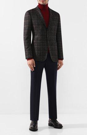 Мужской шерстяные брюки PAL ZILERI темно-синего цвета, арт. P3110--K---B1040 | Фото 2