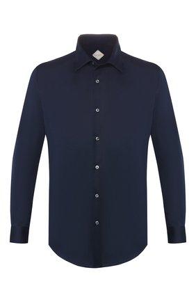 Мужская хлопковая рубашка PAL ZILERI темно-синего цвета, арт. P370K271S--B0440 | Фото 1