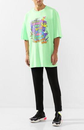 Мужская хлопковая футболка VETEMENTS зеленого цвета, арт. MAH20TR018 | Фото 2