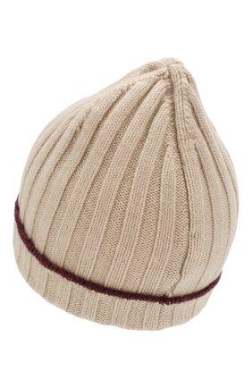 Мужская кашемировая шапка BRUNELLO CUCINELLI бежевого цвета, арт. M2240900 | Фото 2