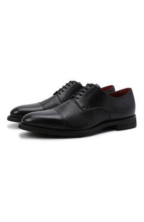 Мужские кожаные дерби BARRETT черного цвета, арт. 111U016.72/BETIS CREAM | Фото 1 (Статус проверки: Проверено, Проверена категория; Стили: Классический)