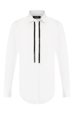 Мужская хлопковая сорочка DSQUARED2 белого цвета, арт. S74DM0284/S35244 | Фото 1
