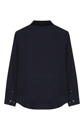 Детская хлопковая рубашка LANVIN синего цвета, арт. 4L5010/LD280/5-8 | Фото 2