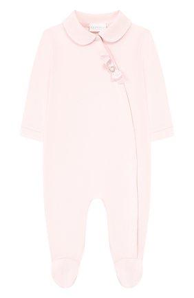 Детский комплект из комбинезона и повязки на голову LA PERLA розового цвета, арт. 48545 | Фото 2