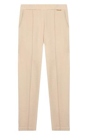 Детские брюки TWINSET бежевого цвета, арт. 192GJ2250/12A-16A | Фото 1
