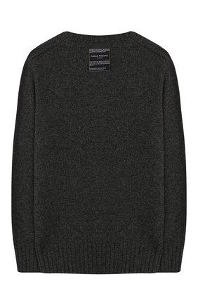 Детский шерстяной пуловер PAOLO PECORA MILANO серого цвета, арт. PP1926/6Y-12Y | Фото 2