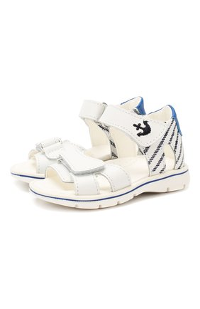 Детские кожаные сандалии WALKEY белого цвета, арт. Y1B2-40264-0658 | Фото 1