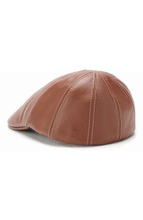 Женская кожаная кепка BURBERRY коричневого цвета, арт. 8016341 | Фото 2