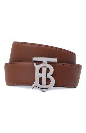 Женский кожаный ремень BURBERRY коричневого цвета, арт. 8011701 | Фото 1 (Статус проверки: Проверена категория)