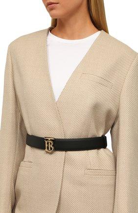 Женский кожаный ремень BURBERRY черного цвета, арт. 8009784 | Фото 2 (Статус проверки: Проверено, Проверена категория)
