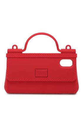 Мужской чехол для iphone x/xs DOLCE & GABBANA красного цвета, арт. BI1274/AA918 | Фото 1