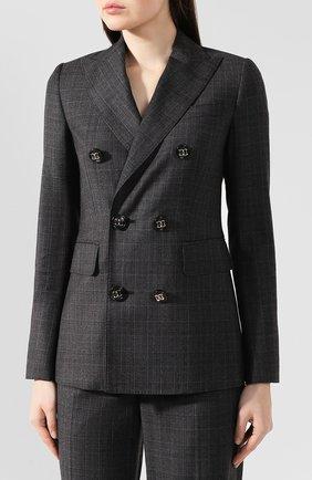 Женский шерстяной костюм DSQUARED2 темно-серого цвета, арт. S75FT0168/S52041 | Фото 2