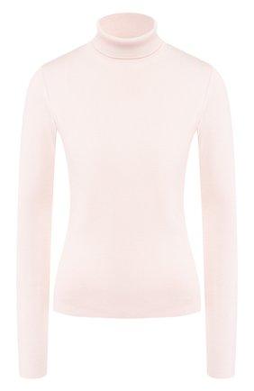 Женская водолазка из смеси кашемира и шелка LORO PIANA светло-розового цвета, арт. FAI7542   Фото 1