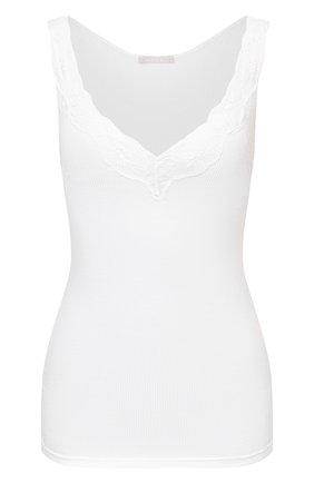 Женская хлопковый топ HANRO белого цвета, арт. 071375 | Фото 1